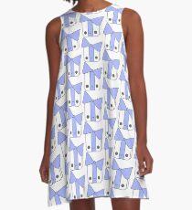 Smiling Gift Blue A-Line Dress