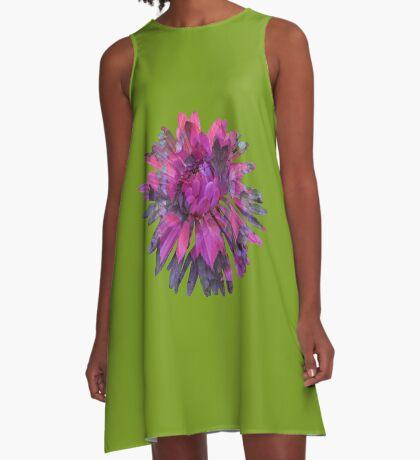 Herbstblume A-Linien Kleid
