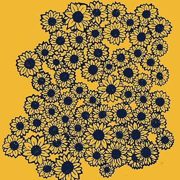 Retro Sunflowers by Boogiemonst