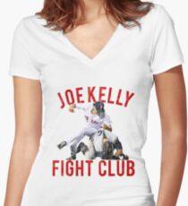 Joe Kelly Fight Boston Baseball Women's Fitted V-Neck T-Shirt