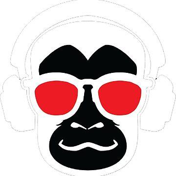 Monkey Shirt - Cute Monkey Shirt - Funky Monkey Shirt - Monkey tshirt - Monkey tee - Monkey Music Shirt by happygiftideas