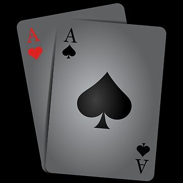 Two Aces cool Gift for Poker Players by peter2art
