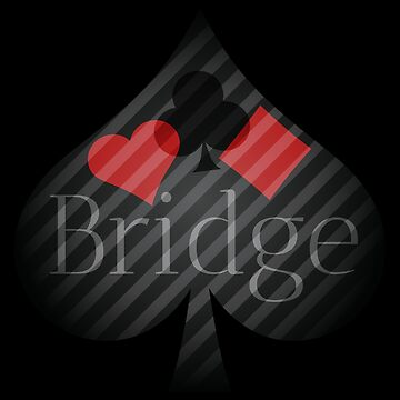 Bridge card game elegant design for bridge players by peter2art