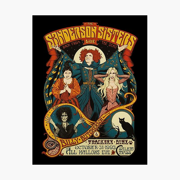 Sanderson Sisters Halloween Photographic Print