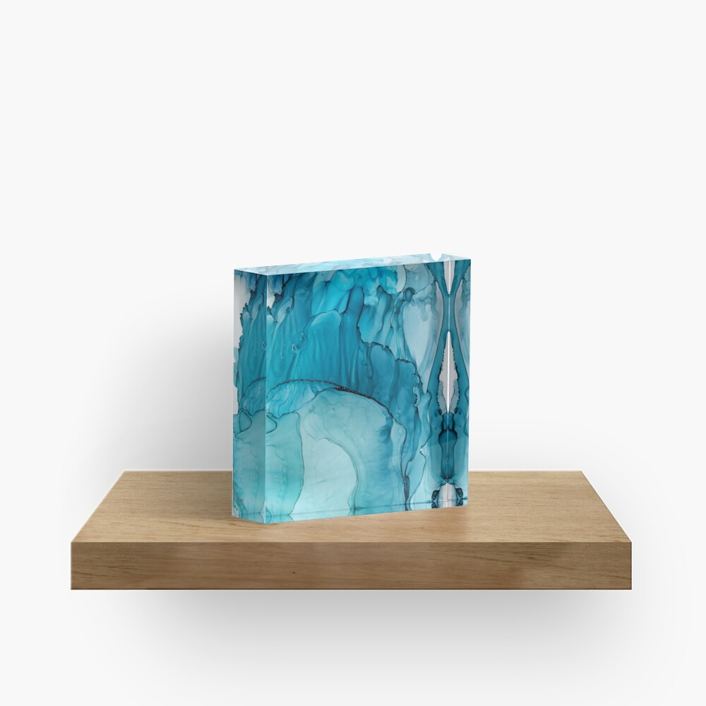 Matter To Me, Indigo Teal Ink Acrylic Block