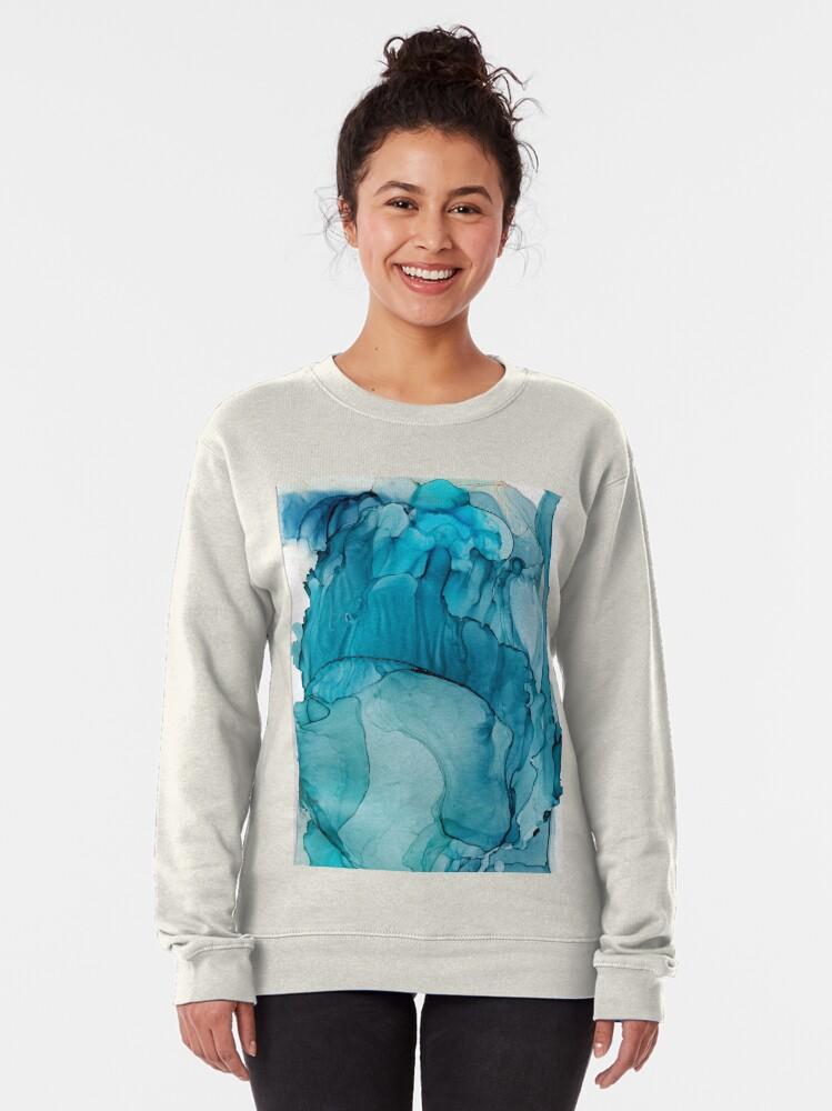 Alternate view of Matter To Me, Indigo Teal Ink Pullover Sweatshirt
