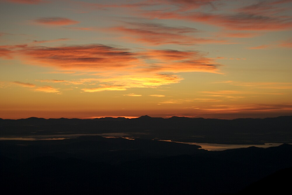 Dawn Atop Rocky Peak Ridge by Jeremiah  Reiner