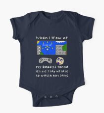 When I Grow Up Gamer Baby - Gaming Geek Parent Short Sleeve Baby One-Piece
