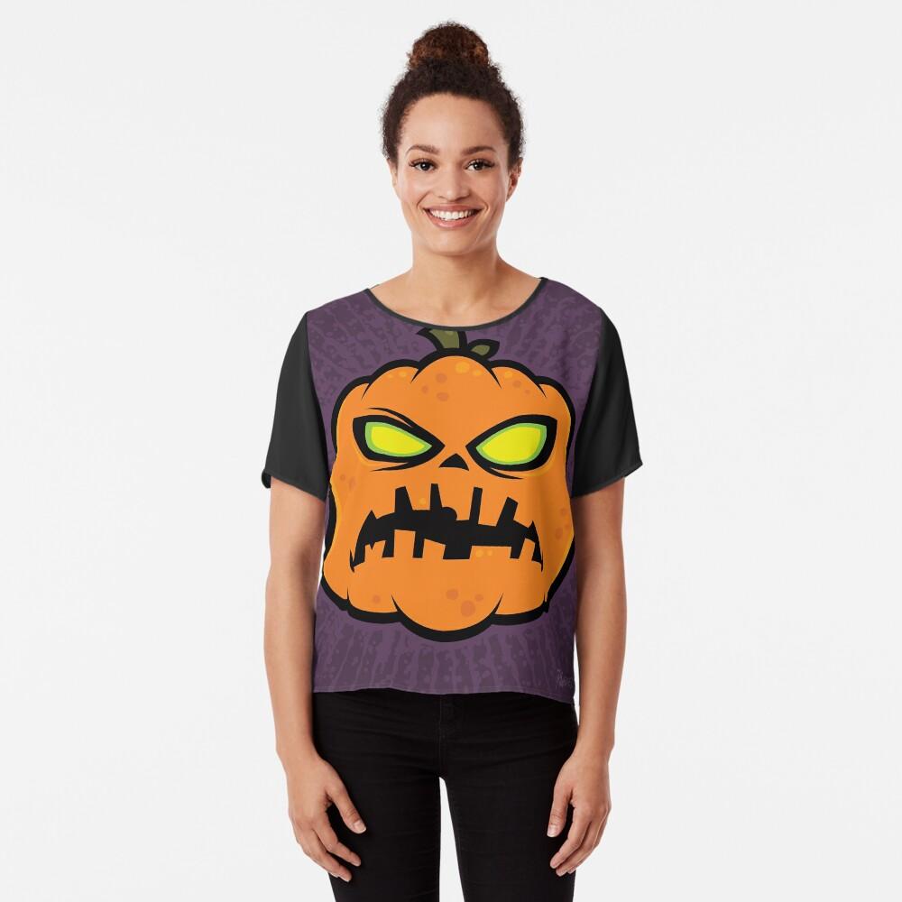Pumpkin Zombie Chiffon Top