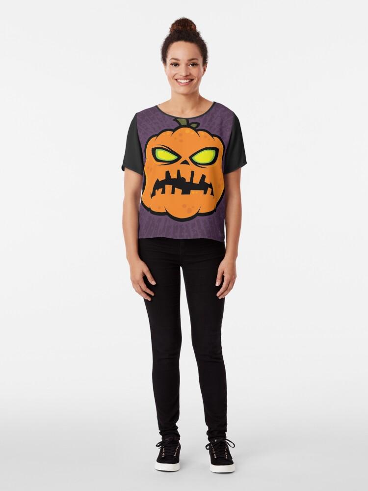 Alternate view of Pumpkin Zombie Chiffon Top