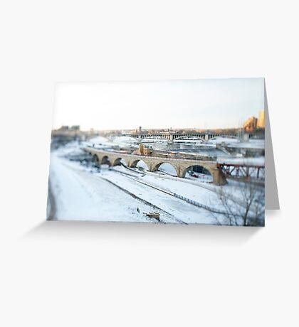 stone arch bridge . minneapolis . minnesota Greeting Card