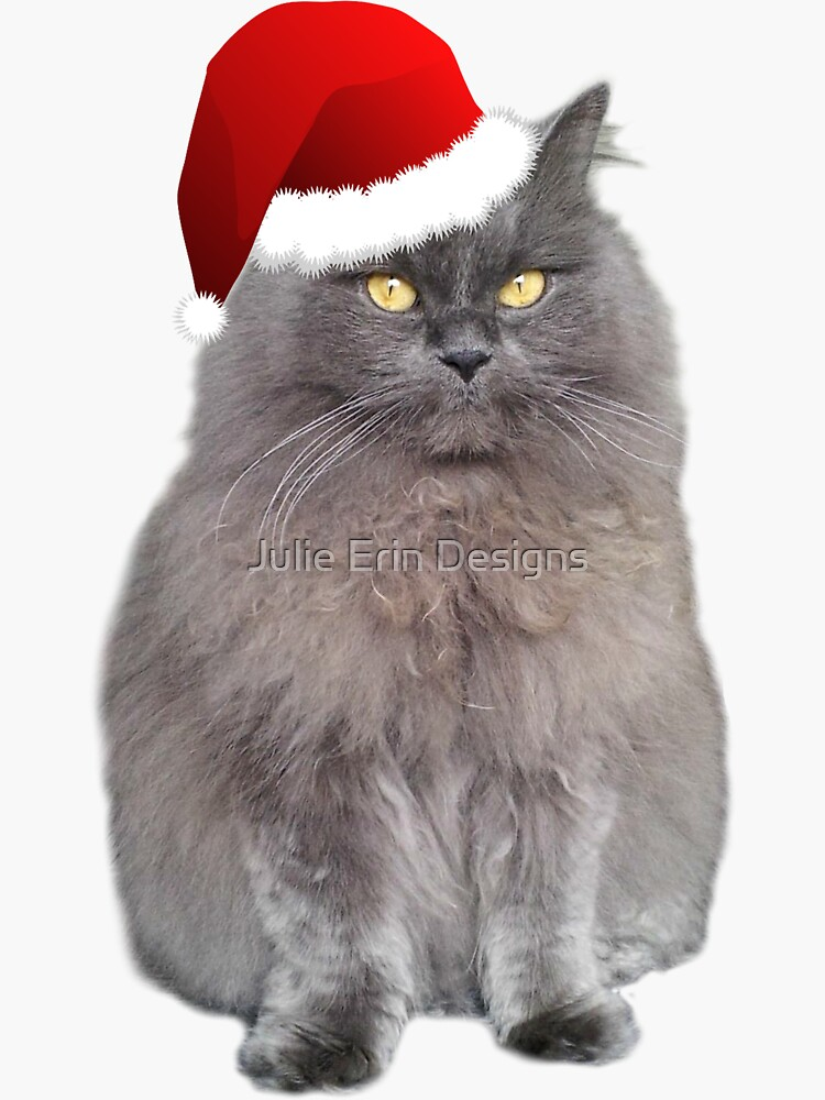 Meowy Christmas Kitty by julieerindesign