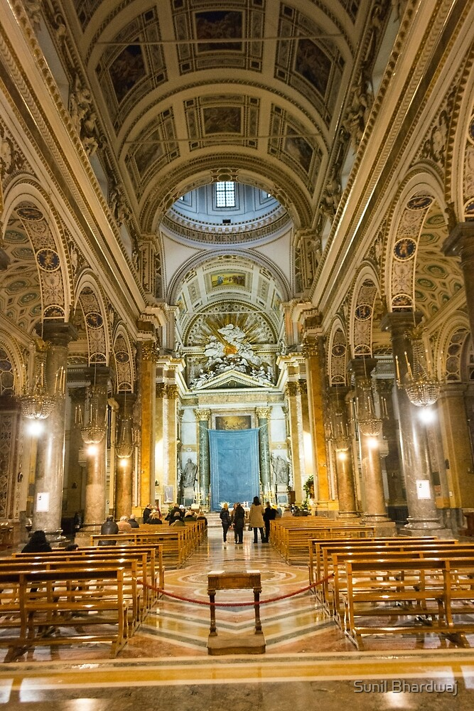 beautiful church in Naples by Sunil Bhardwaj
