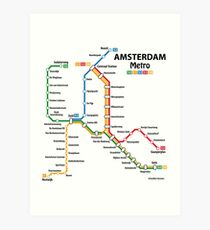 Subway Map Art Prints Redbubble