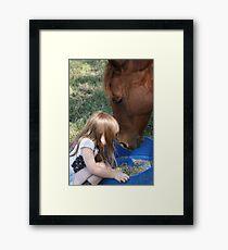 Sarah And Stewie  Framed Print