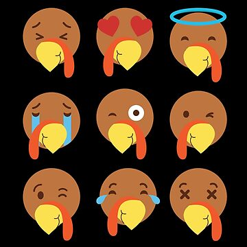Turkey Emojis For Thanksgiving Day by BUBLTEES