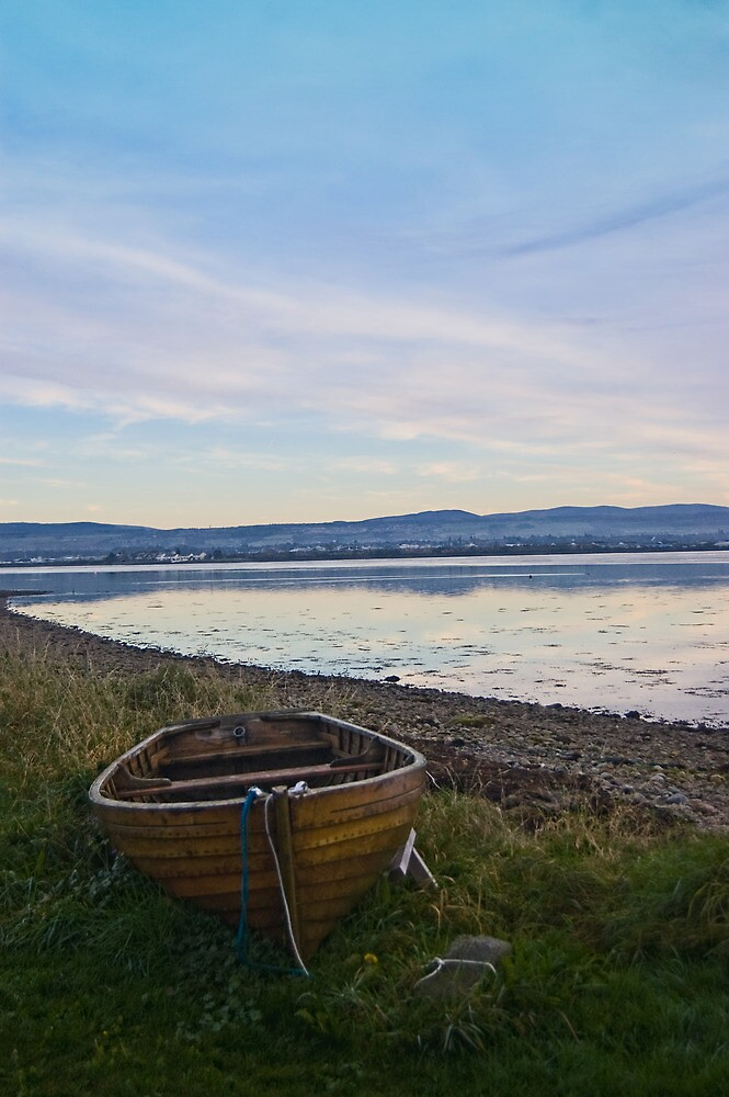 Rowing boat on the banks of the Moray Firth by ---Andy---
