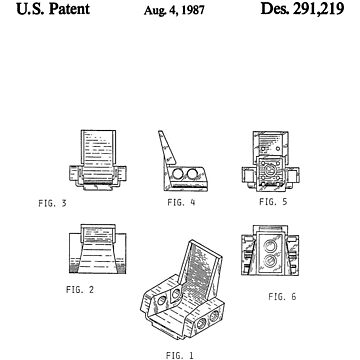 The Lego Patent Of Technic Seat 3 x 2 Base In Black Version by mecanolego