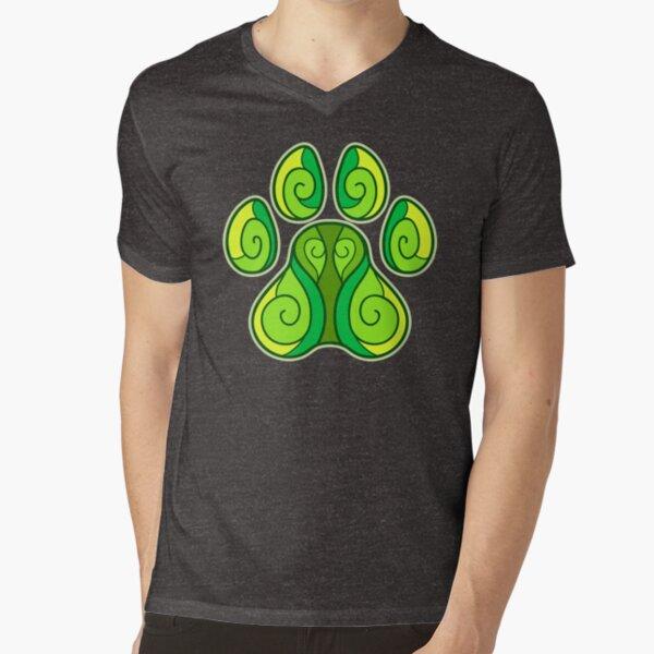 Spring Paw V-Neck T-Shirt