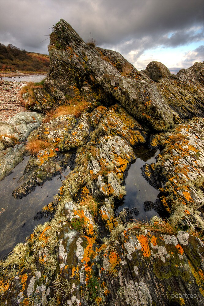 The shore at Allt Falbea by peartree