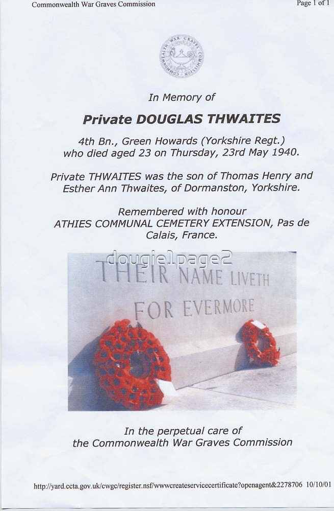 Private Doug Thwaites by dougie1page2