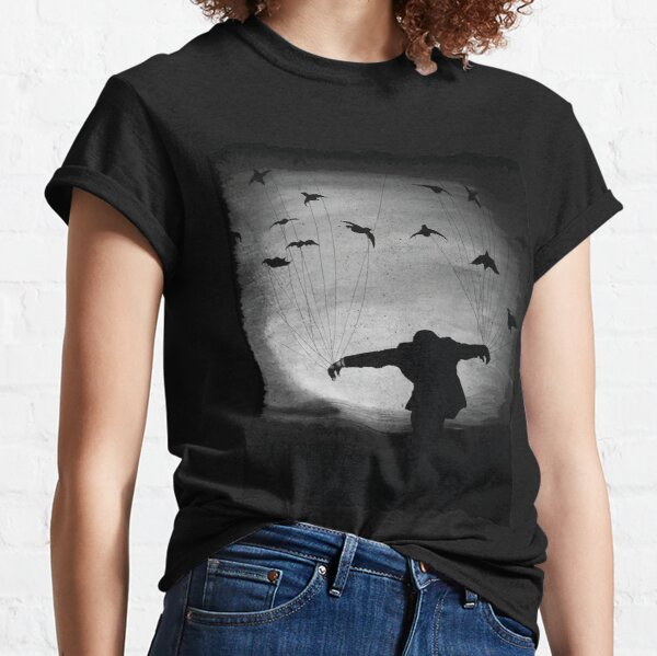 Man In flight with ravens Classic T-Shirt