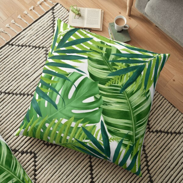 Tropical leaves III Floor Pillow