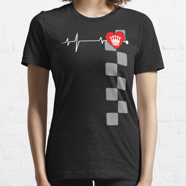 Heart with Chess Lady - I Essential T-Shirt