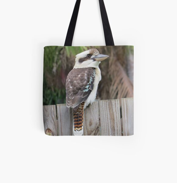 Laughing Kookaburra 3 All Over Print Tote Bag