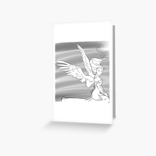 Angel Cover Greeting Card