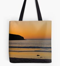 Golden Waves, sunset at St Ninian's Isle, Shetland Tote Bag