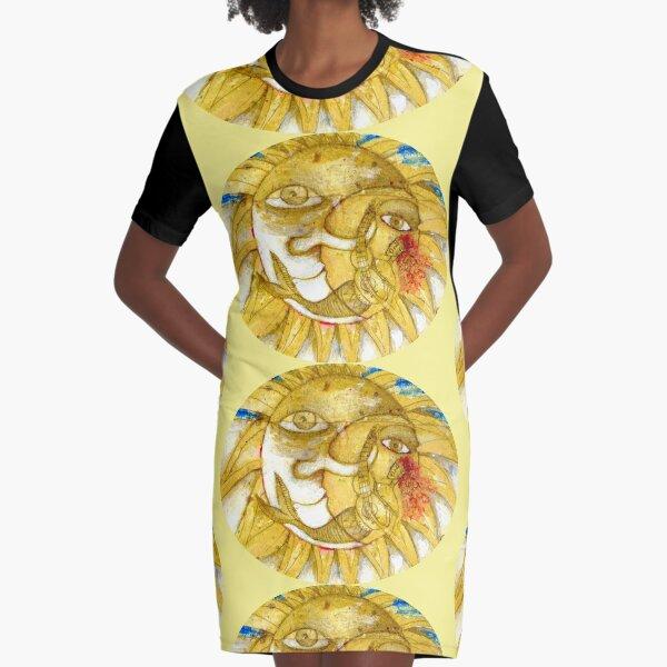 The Golden Sun Graphic T-Shirt Dress