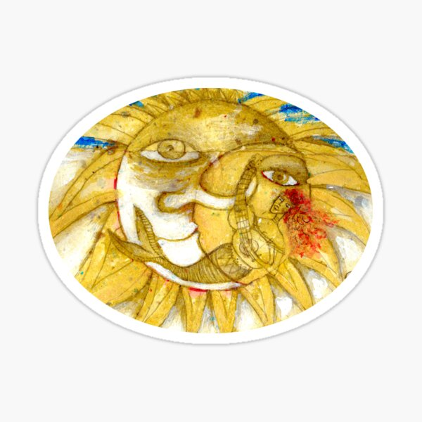 The Golden Sun Sticker