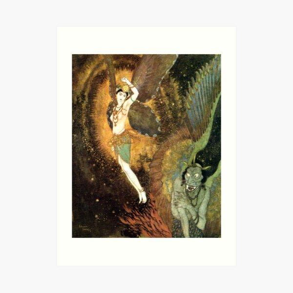 Dahnash and Meymooneh - Princess Badoura - Arabian Nights - Edmund Dulac Art Print