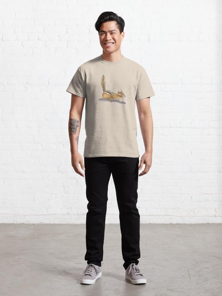 Alternate view of Curious Chipmunk Classic T-Shirt