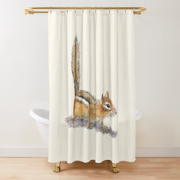 Curious Chipmunk Shower Curtain