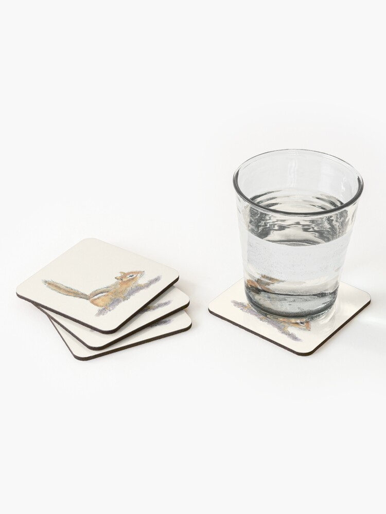 Alternate view of Curious Chipmunk Coasters (Set of 4)