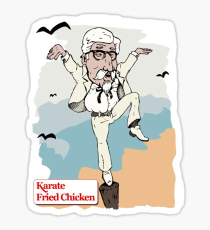 Karate Fried Chicken Sticker