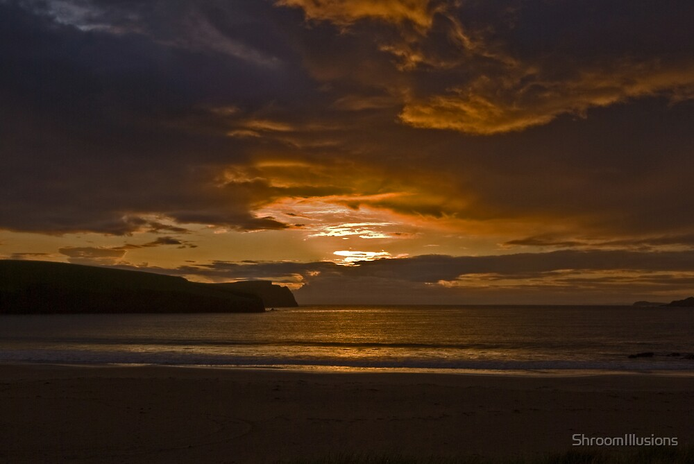 Fiery Sky, Sunset, St Ninian's Isle by ShroomIllusions