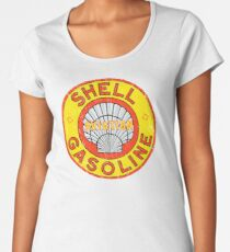 Shell Aviation Gasoline Women's Premium T-Shirt