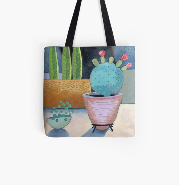 My Little Round Cactus All Over Print Tote Bag