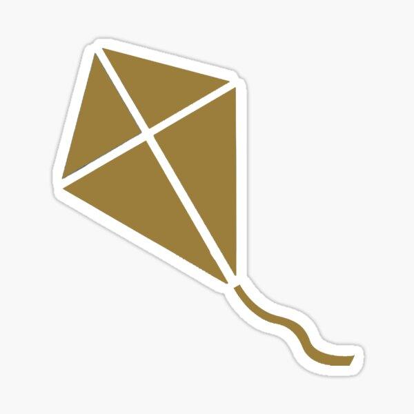 Gold Kite Sticker