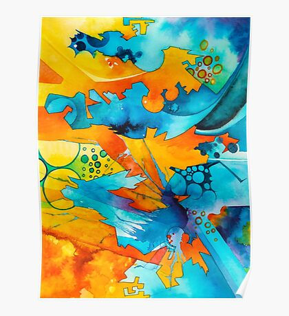 Are They Unicorns or Horniecornies? - Watercolor Painting Poster