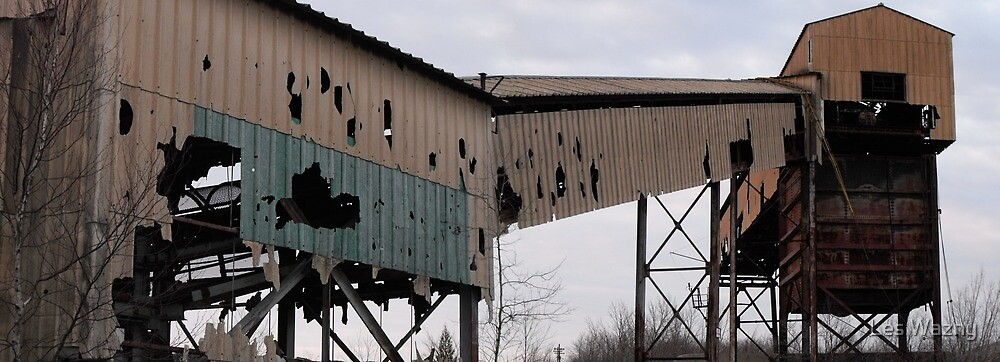 Abandoned Mine Buildings- Marmora  Open Pit Mine by Les Wazny