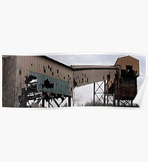 Abandoned Mine Buildings- Marmora  Open Pit Mine Poster