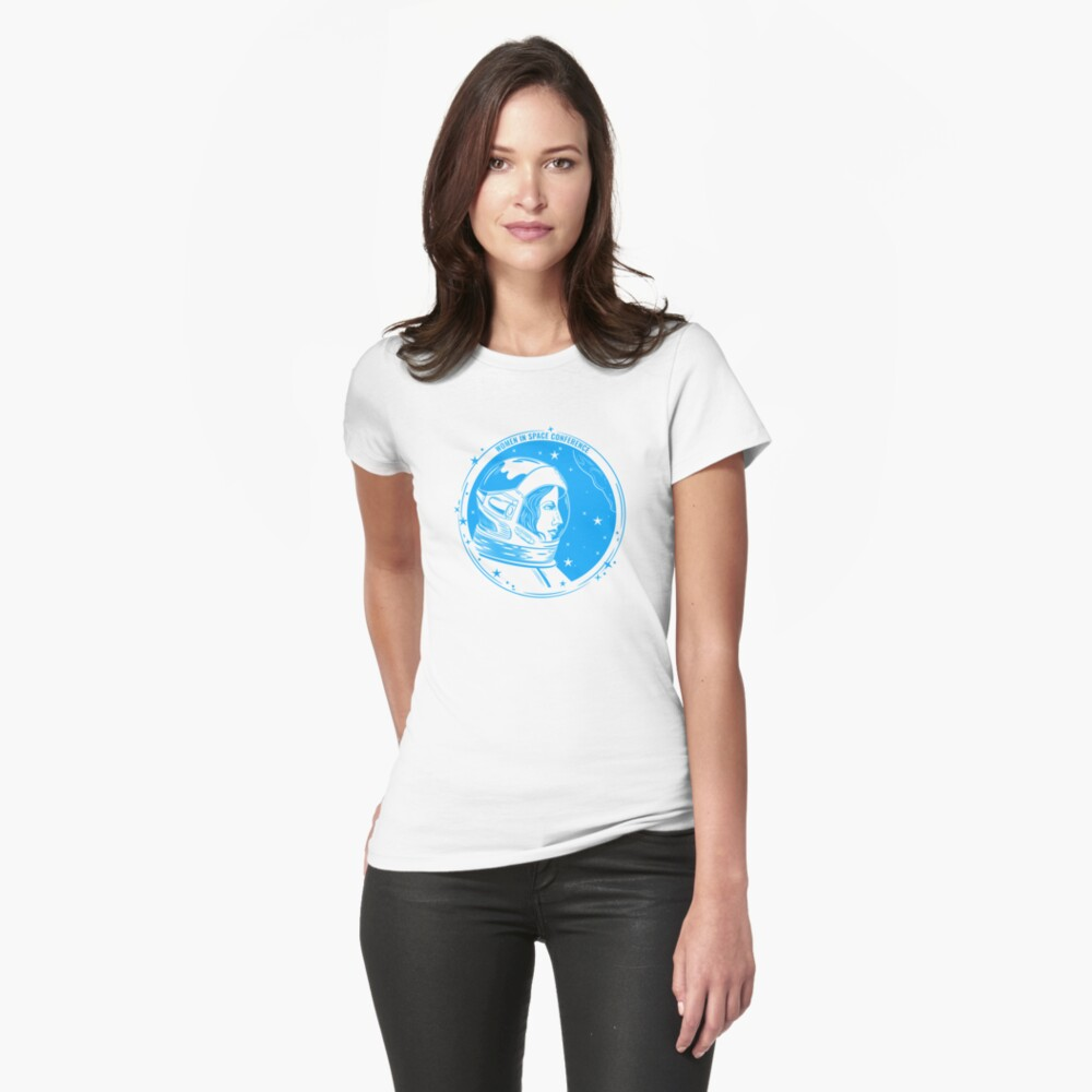 Women in Space Conference Fitted T-Shirt