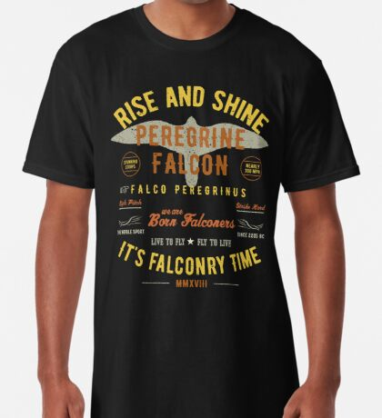 It's falconry Time! Peregrine Falcon Gift nad Apparel Collection for the Peregrine Falconer and Hawker Long T-Shirt