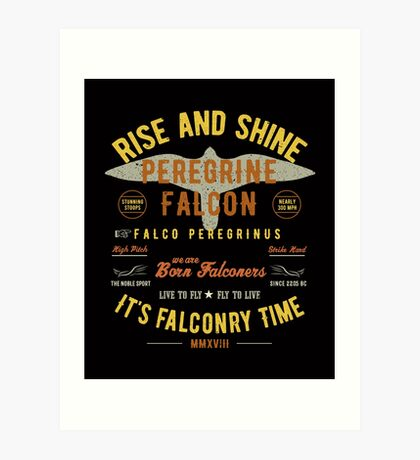It's falconry Time! Peregrine Falcon Gift nad Apparel Collection for the Peregrine Falconer and Hawker Art Print