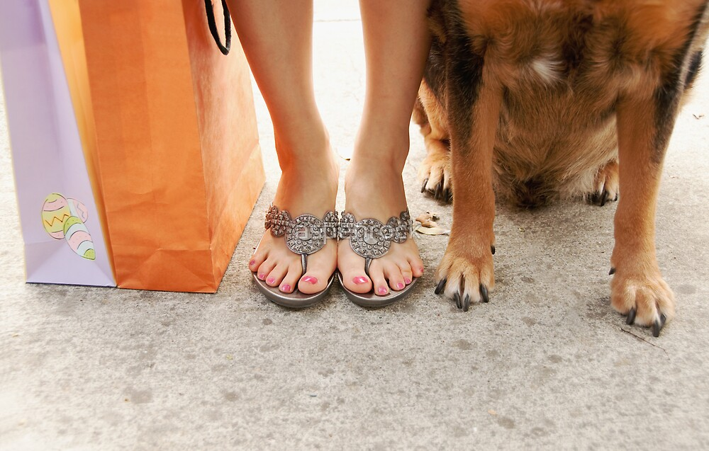shopping with man's best friend by aspenrock