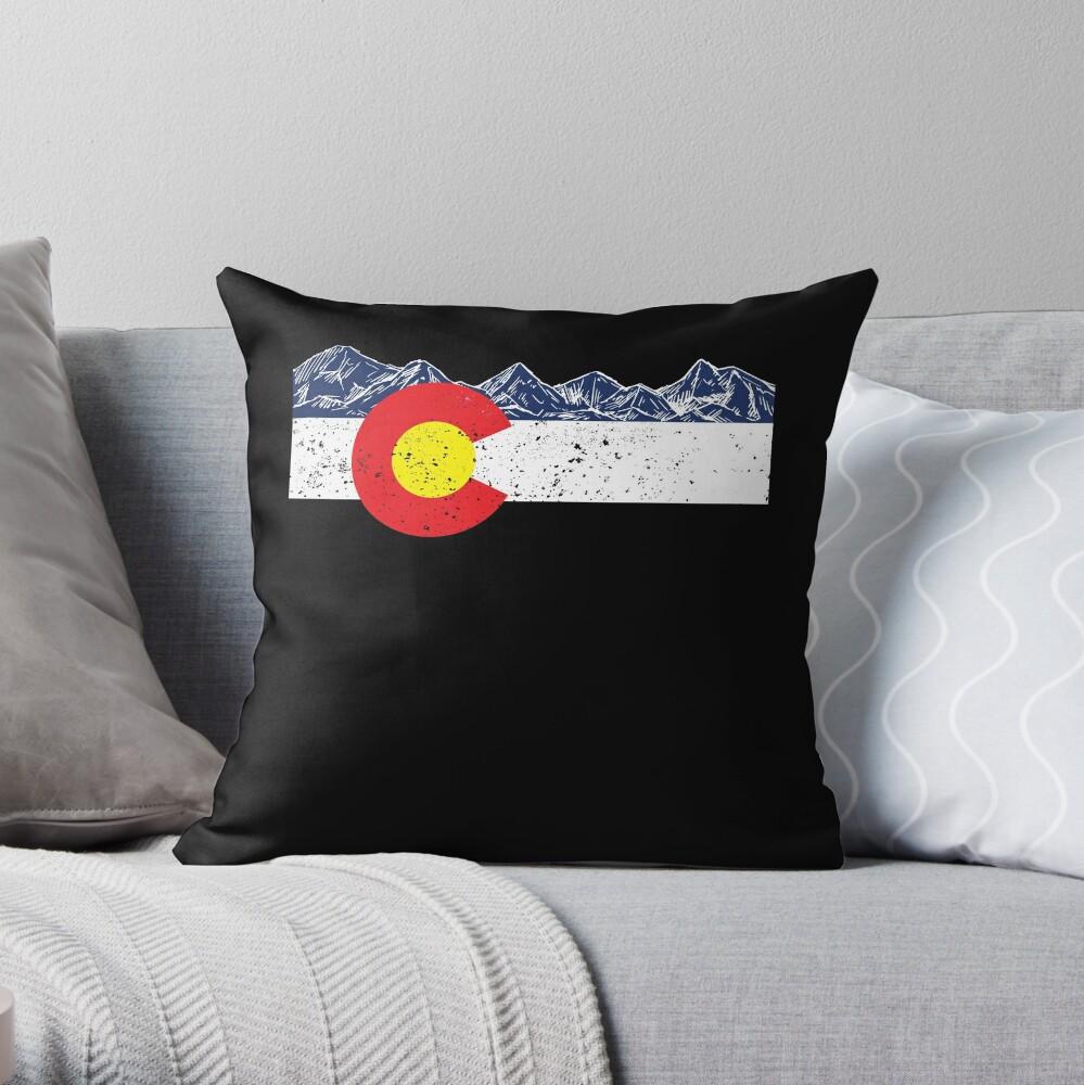 Colorado-Flaggen-Gebirgsgeschenk-Ferien-Colorado-Tag Denver Dekokissen